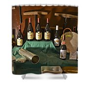 Inside The Wine Cellar Shower Curtain by Allen Sheffield