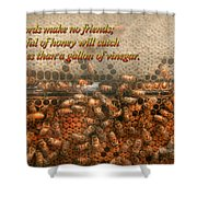 Inspiration - Apiary - Bee's - Sweet Success - Ben Franklin Shower Curtain by Mike Savad