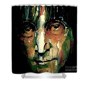 Instant Karma Shower Curtain by Paul Lovering