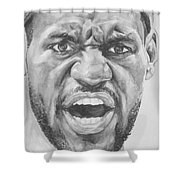 Intensity Lebron James Shower Curtain by Tamir Barkan