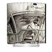 Intensity Peyton Manning Shower Curtain by Tamir Barkan