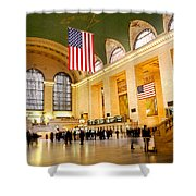 Interior Grand Central Station Shower Curtain by Linda  Parker