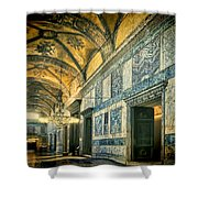 Interior Narthex Shower Curtain by Joan Carroll