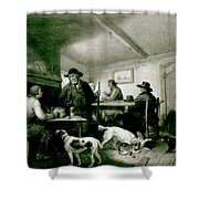 Interior Of A Country Inn Shower Curtain by George Morland