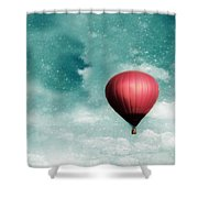 Into The Night Shower Curtain by Amy Tyler