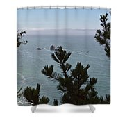 Into The Wild Blue Shower Curtain by Heidi Smith