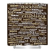 Intransit 20130625bwwa85 Shower Curtain by Wingsdomain Art and Photography