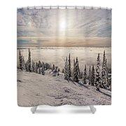 Inversion Sunset Shower Curtain by Aaron Aldrich
