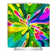 Iphone Cases Colorful Flowers Abstract Roses Gardenias Tiger Lily Florals Carole Spandau Cbs Art 181 Shower Curtain by Carole Spandau