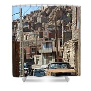 Iran Kandovan Cars And Wires Shower Curtain by Lois Ivancin Tavaf