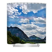 Iridescent Clouds Above Ouray Colorado Shower Curtain by Janice Rae Pariza