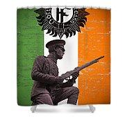 Irish 1916 Volunteer Shower Curtain by David Doyle