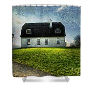 Irish Thatched Roofed Home Shower Curtain by Juli Scalzi