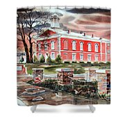Iron County Courthouse No W102 Shower Curtain by Kip DeVore