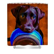 Is It Time Yet? Shower Curtain by Michael Pickett