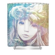 Isangelle Clariscendre Shower Curtain by Barbara Orenya