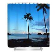 Isla Secas Shower Curtain by Carey Chen