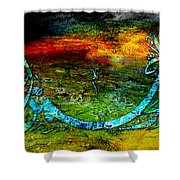 Islamic Caligraphy 005 Shower Curtain by Catf
