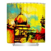 Islamic Painting 001 Shower Curtain by Catf