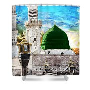 Islamic Painting 004 Shower Curtain by Catf