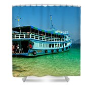 Island Ferry  Shower Curtain by Adrian Evans