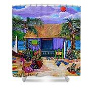 Island Time Shower Curtain by Patti Schermerhorn