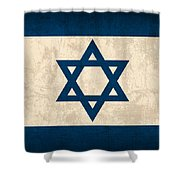 Israel Flag Vintage Distressed Finish Shower Curtain by Design Turnpike