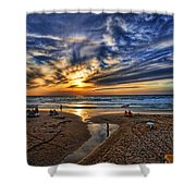 Israel Sweet Child In Time Shower Curtain by Ron Shoshani