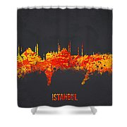 Istanbul Turkey Shower Curtain by Aged Pixel