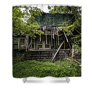 It Was Once Christmas Here Shower Curtain by Gary Heller