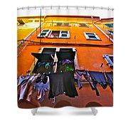 Italian Laundry Shower Curtain by Mark Prescott Crannell