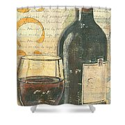 Italian Wine And Grapes Shower Curtain by Debbie DeWitt