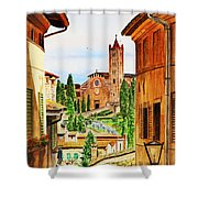Italy Siena Shower Curtain by Irina Sztukowski