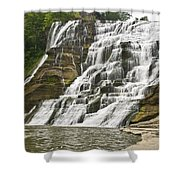 Ithaca Falls Shower Curtain by Anthony Sacco