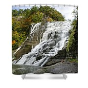 Ithaca Falls Shower Curtain by Christina Rollo