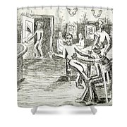 Its On Me Shower Curtain by Genevieve Esson