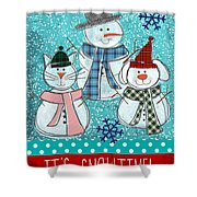 It's Snowtime Shower Curtain by Linda Woods