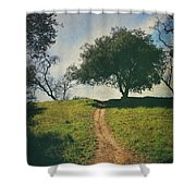 It's Time To Get Up That Hill Shower Curtain by Laurie Search