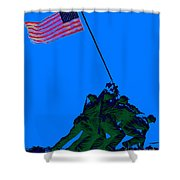 Iwo Jima 20130210m88 Shower Curtain by Wingsdomain Art and Photography