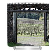 Jack London Ranch Winery Ruins 5D22132 Shower Curtain by Wingsdomain Art and Photography
