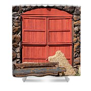 Jack London Stallion Barn 5D22103 Shower Curtain by Wingsdomain Art and Photography