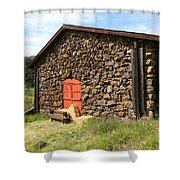 Jack London Stallion Barn 5D22104 Shower Curtain by Wingsdomain Art and Photography
