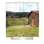 Jack London Stallion Barn 5D22106 Shower Curtain by Wingsdomain Art and Photography