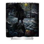 Jack The Ripper Shower Curtain by Alessandro Della Pietra