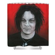 'jack White' Shower Curtain by Christian Chapman Art
