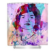 Jackie Kennedy Watercolor Shower Curtain by Naxart Studio