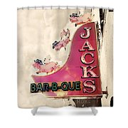 Jacks BBQ Shower Curtain by Amy Tyler