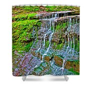 Jackson Falls At Mile 405 Natchez Trace Parkway-tennessee Shower Curtain by Ruth Hager