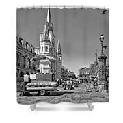 Jackson Square Monochrome Shower Curtain by Steve Harrington