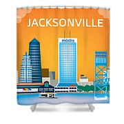 Jacksonville Shower Curtain by Karen Young